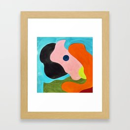 Shapes on a Hill Framed Art Print