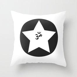 Om Star Throw Pillow
