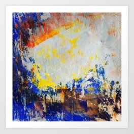 Abstract Paint Layers (Skate Park Shelter) Art Print