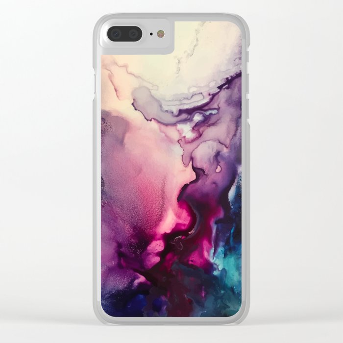 Mission Fusion - Mixed Media Painting Clear iPhone Case