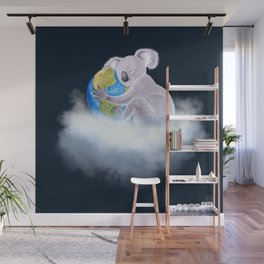 Koala in Heaven - Climate Change Awareness Wall Mural