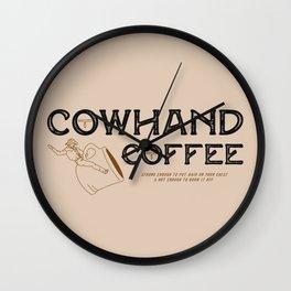 Cowhand Coffee - Rustic Wall Clock
