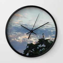 Feather cloud in the sky at sunset,Jeju Island, Korea.  Wall Clock