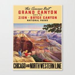 Vintage poster - Grand Canyon Canvas Print