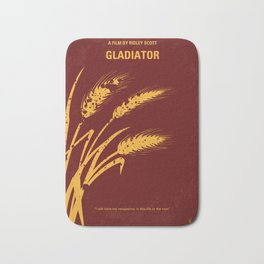 No300 My GLADIATOR minimal movie poster Bath Mat