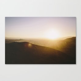 Angels National Forest, sunset no.5 Canvas Print