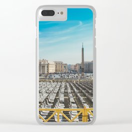 Ready for Mass at the Vatican, St. Paul's Basilicia, Italy Clear iPhone Case