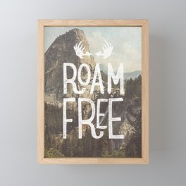 Roam Free - Yosemite Framed Mini Art Print