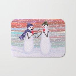 snowmen with popsicles Bath Mat