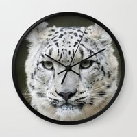leopard Wall Clocks featuring Leopard by WonderfulDreamPicture