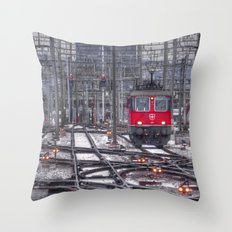 Electric Suisse Throw Pillow