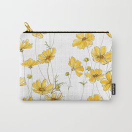 Yellow Cosmos Flowers Carry-All Pouch