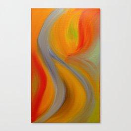 """Orange Blossom"" Original oil finger painting by Monika Toth Canvas Print"