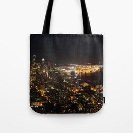 Seattle Night Lights - Great Wheel Tote Bag