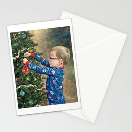 """""""Little Tree Trimmer"""" Stationery Cards"""