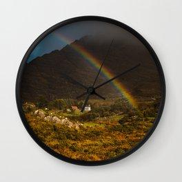 Rainbow At Hungry Hill Beara Peninsula Wall Clock