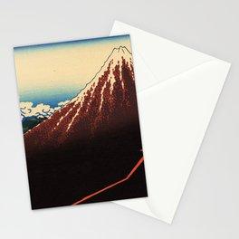 Katsushika Hokusai - 36 Views of Mount Fuji (1832) - 3: Rainstorm Beneath the Summit Stationery Cards