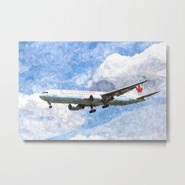 Air Canada Boeing 767 Art Metal Print
