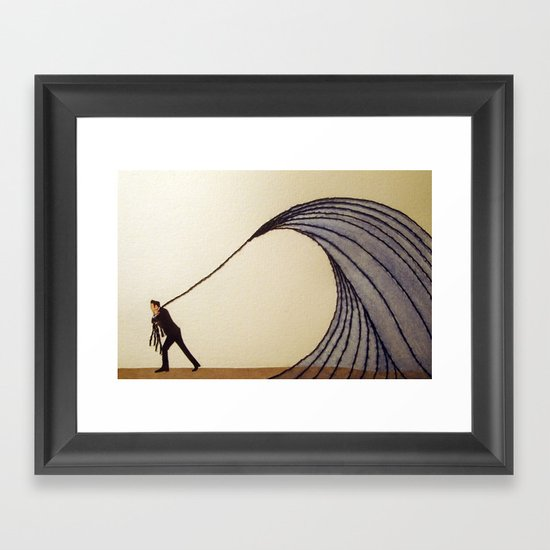 """""""For you I know I'd even try to turn the tide."""" - Johnny Cash Framed Art Print"""