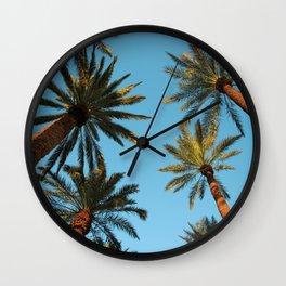 Palm trees, Vegas Wall Clock