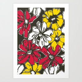 Fleur With Yellow Art Print
