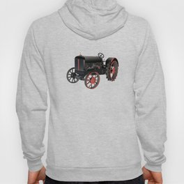 Black and Red Old Tractor Hoody