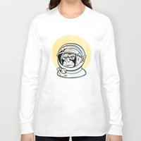 ape Long Sleeve T-shirts featuring Space Ape by Fanboy30