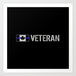 Canadian Police Veteran Art Print