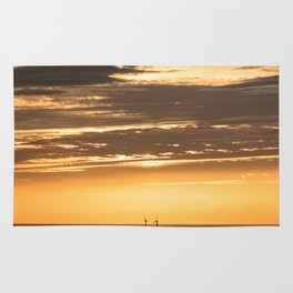 Isle of Anglesey Windmill Sunset over Irish Sea Rug