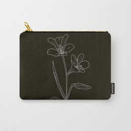 Amancay Wildflower in black Carry-All Pouch