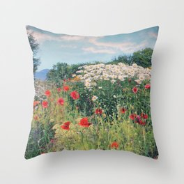 Greens Of Summers Throw Pillow