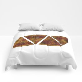pizza white Comforters