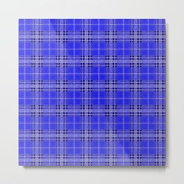 Blue Plaid Metal Print