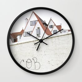 Hidden Houses And Lost Graffiti Wall Clock