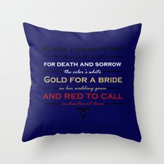 Shadowhunter Nursery Rhyme Throw Pillow