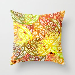 Fruity geometric abstract Throw Pillow