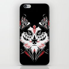 American Indian wolf iPhone & iPod Skin