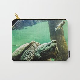 An Alligator Snapping Turtle  Carry-All Pouch