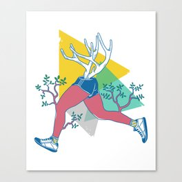 Run like a deer Canvas Print