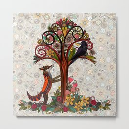 fox and crow Metal Print