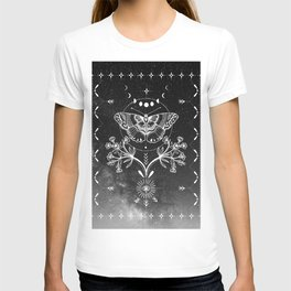 Magical Moth Black T-Shirt