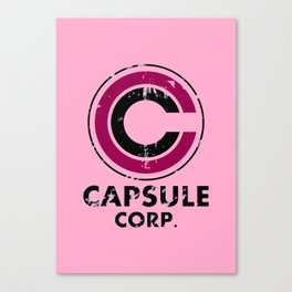 Capsule Corp Vintage pink Canvas Print