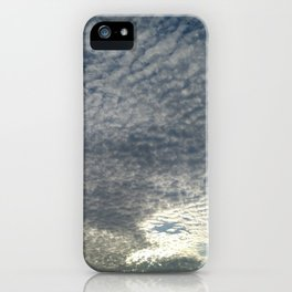 London Eye, Cloudy Sky iPhone Case