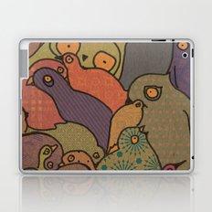 A bunch of birds in blue mosaic  Laptop & iPad Skin