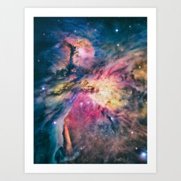 The awesome beauty of the Orion Nebula  Art Print