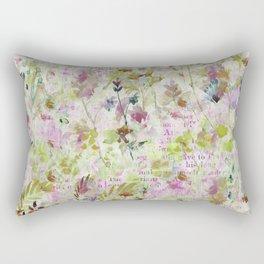 des fleurs et des mots Rectangular Pillow