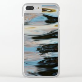 Abstract Water Surface Clear iPhone Case