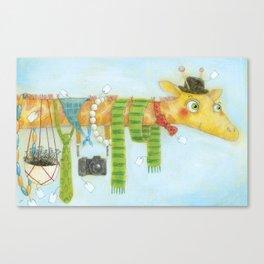 Giraffe Goes Shopping Canvas Print