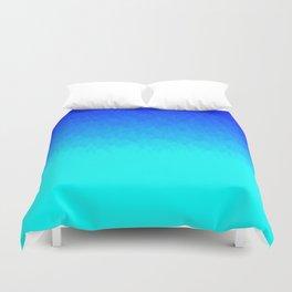 Electric Blue Ombre flames / Light Blue to Dark Blue Duvet Cover