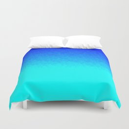 Electric Blue Ombre flames / Light Blue to Dark Blue Duvet Cover